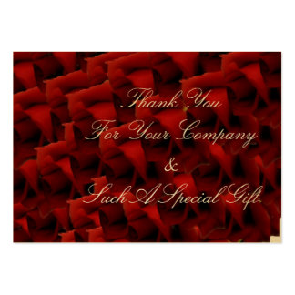 Heart of Roses wedding thank you Business Card