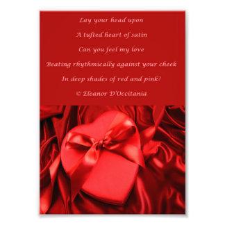 Heart of Satin Poetry Kodak Photo Print