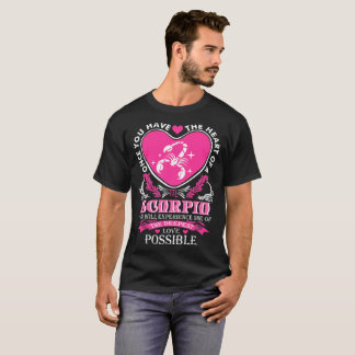 Heart Of Scorpio Deepest Love Possible Tshirt