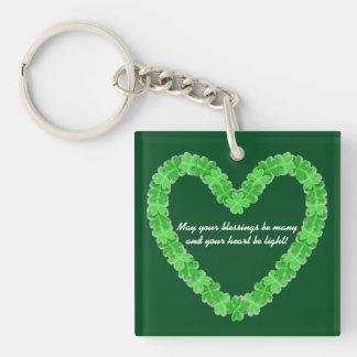 Heart Of Shamrocks Key Ring