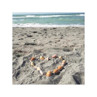 Heart of Shells Canvas Print