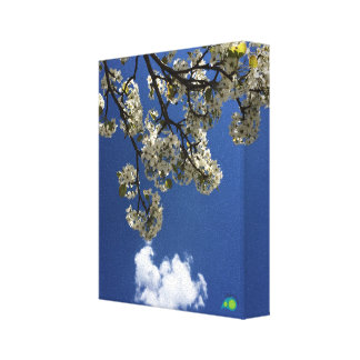 heart of spring stretched canvas prints