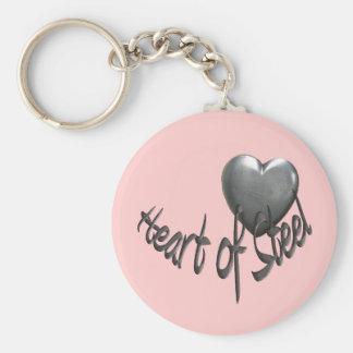 Heart of Steel Key Ring