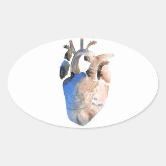 Heart of Stone Oval Sticker