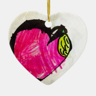 Heart of the Apple Ceramic Heart Decoration