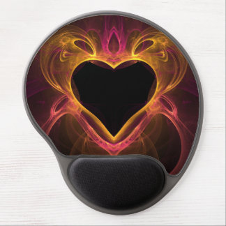 heart of the flame fractal gel mousepad