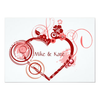 Heart of the Wedding 13 Cm X 18 Cm Invitation Card