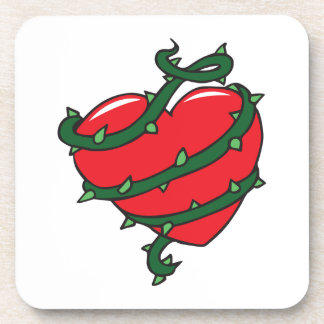 HEART OF THORNS BEVERAGE COASTER