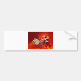 Heart of Valentine Day Bumper Stickers