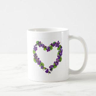 Heart of Violets Basic White Mug