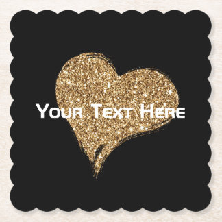 Heart O'Gold Paper Coaster