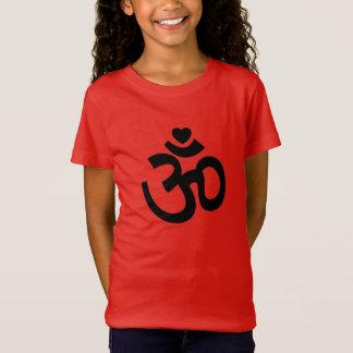 Heart Om Sign - Kids Yoga TShirts