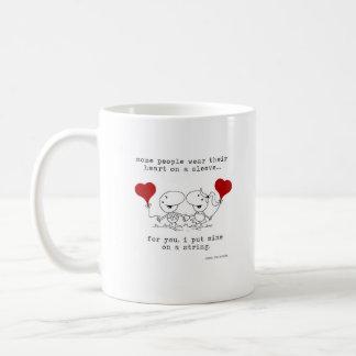 Heart on a String Coffee Mug