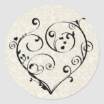 Heart on Champagne Sticker / Seal