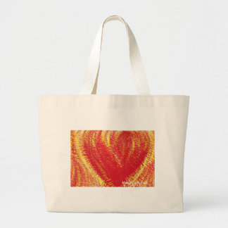 Heart on Fire! Canvas Bags