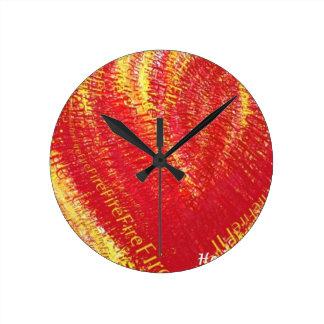 Heart on Fire! Clocks