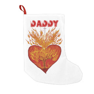 Heart on Fire Customizable Small Christmas Stocking