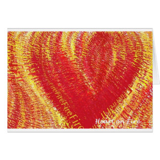 Heart on Fire! Greeting Card
