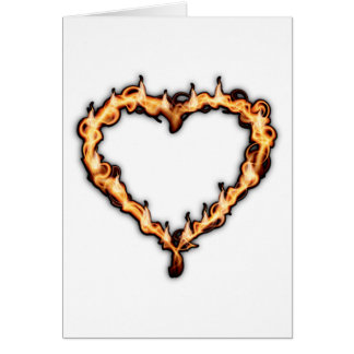 Heart On Fire Greeting Cards