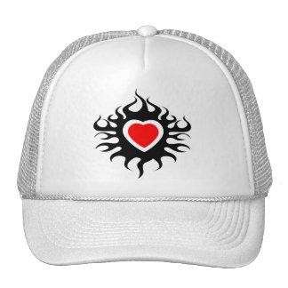 Heart on Fire Mesh Hats