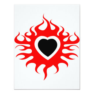 Heart on Fire Personalized Invitations