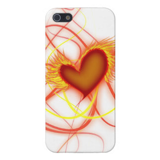 Heart on Fire iPhone 5/5S Cover