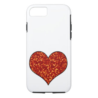 Heart on Fire iPhone 7 Case