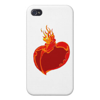 Heart on Fire Covers For iPhone 4