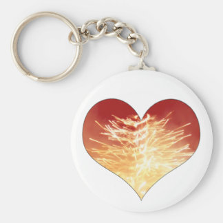 heart on fire key chains