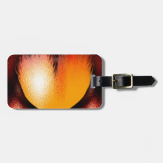 Heart on Fire Travel Bag Tag