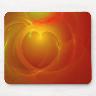 Heart on Fire Mouse Pad