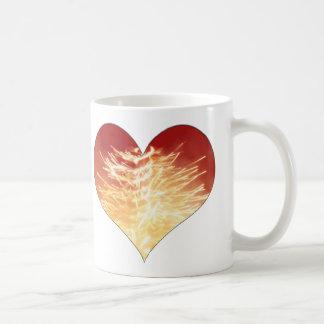 heart on fire coffee mugs