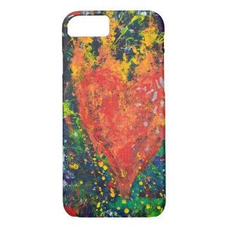 Heart on Fire Phone Case