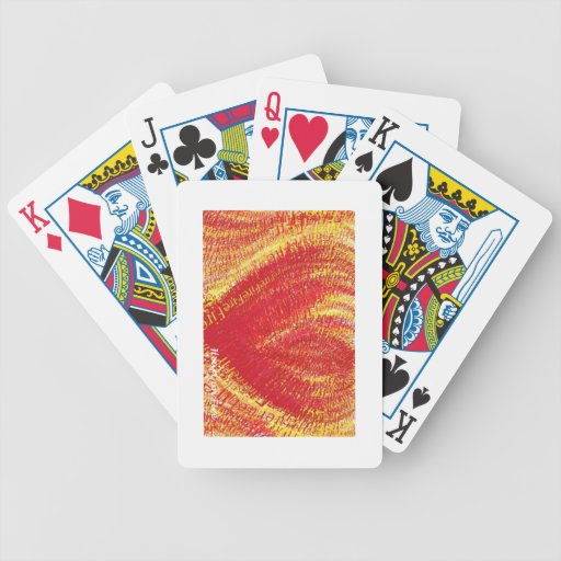 Heart on Fire! Bicycle Playing Cards