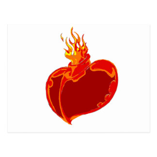 Heart on Fire Postcard
