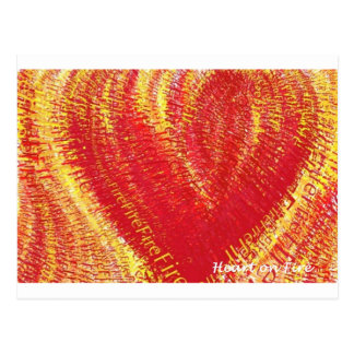 Heart on Fire Post Card