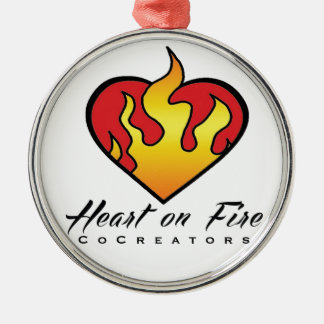 Heart on Fire Products Silver-Colored Round Decoration