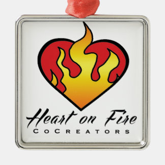 Heart on Fire Products Silver-Colored Square Decoration