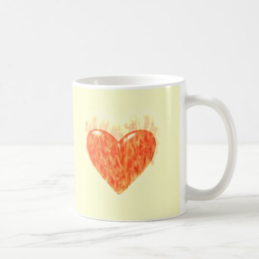 Heart On Fire T-shirts and Gifts Coffee Mugs