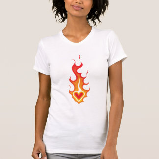 Heart on Fire Tattoo T-Shirt