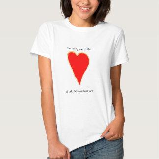 heart on fire tee shirts