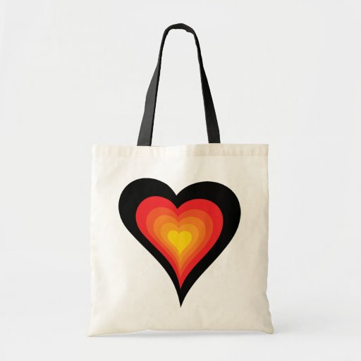 Heart on Fire Tote Canvas Bags