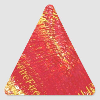 Heart on Fire! Triangle Sticker