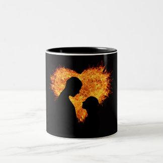 Heart on Fire Two-Tone Mug