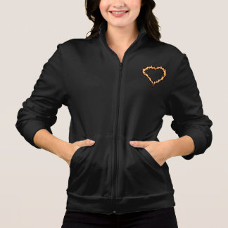 Heart On Fire Womens Jacket