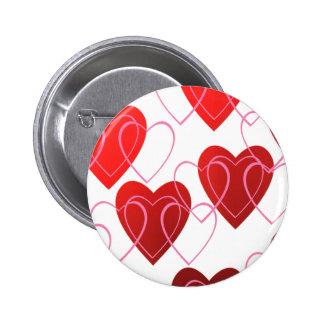 Heart on Hearts Valentine Button
