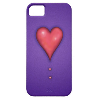 Heart on Purple iPhone 5 Cases