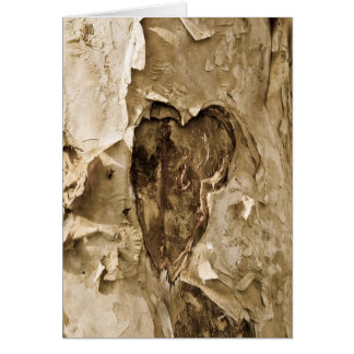 Heart on Tree Bark Card