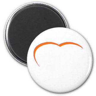 Heart Orange-Red Curve The MUSEUM Zazzle Gifts Magnets