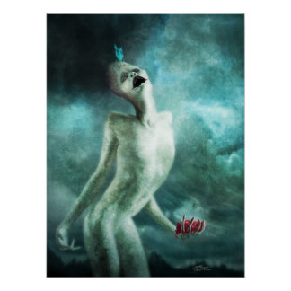 Heart Organ Eater Creature Poster